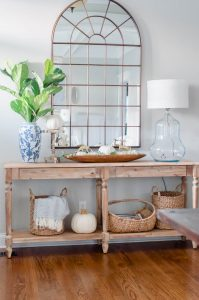 Easy neutral fall decor