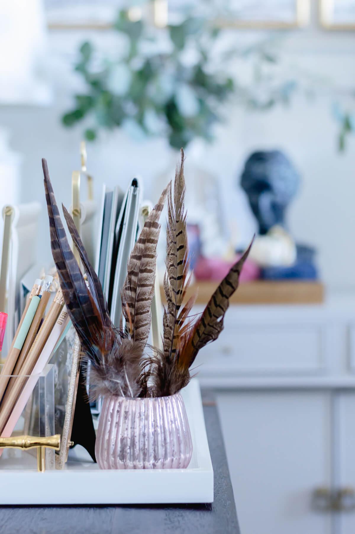 Fall decor feathers | the home i create
