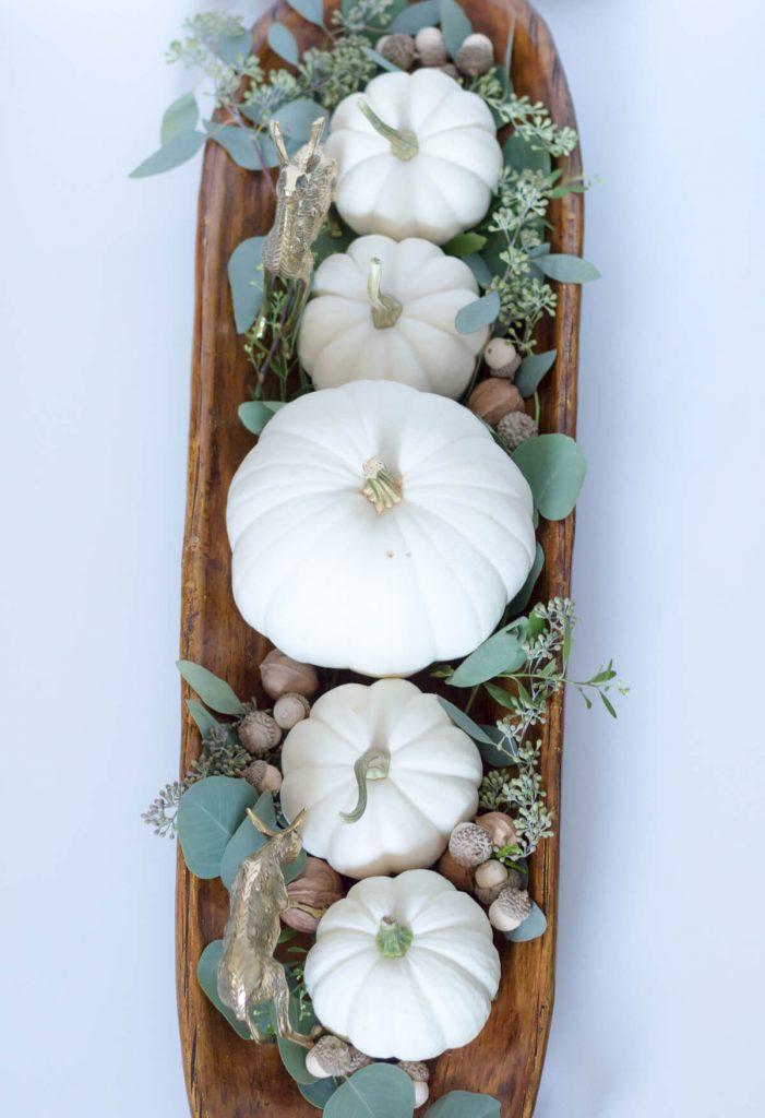 White Pumpkin in Dough Bowl