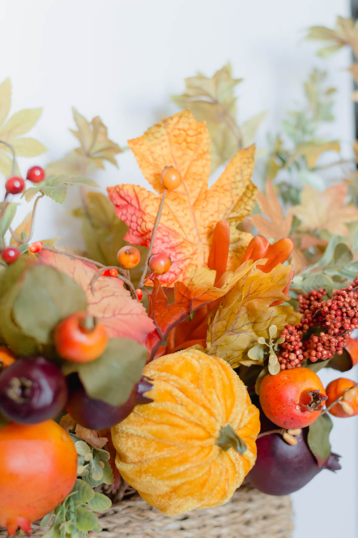 fruit and pumpkin fall basket | the home i create