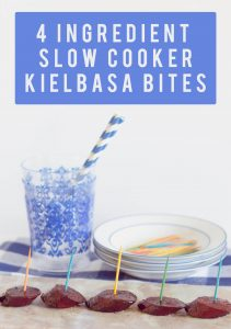 4 Ingredient Slow Cooker Kielbasa Bites | the home i create