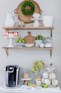 DIY Coffee Bar shelves | the home i create