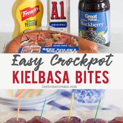 5 Ingredient Slow Cooker Kielbasa Bites