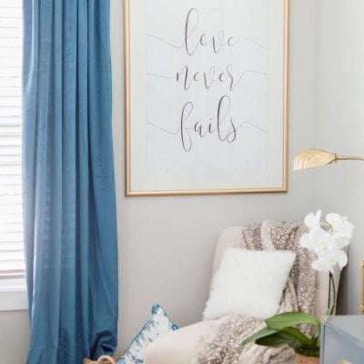 Easy DIY Love Never Fail Art