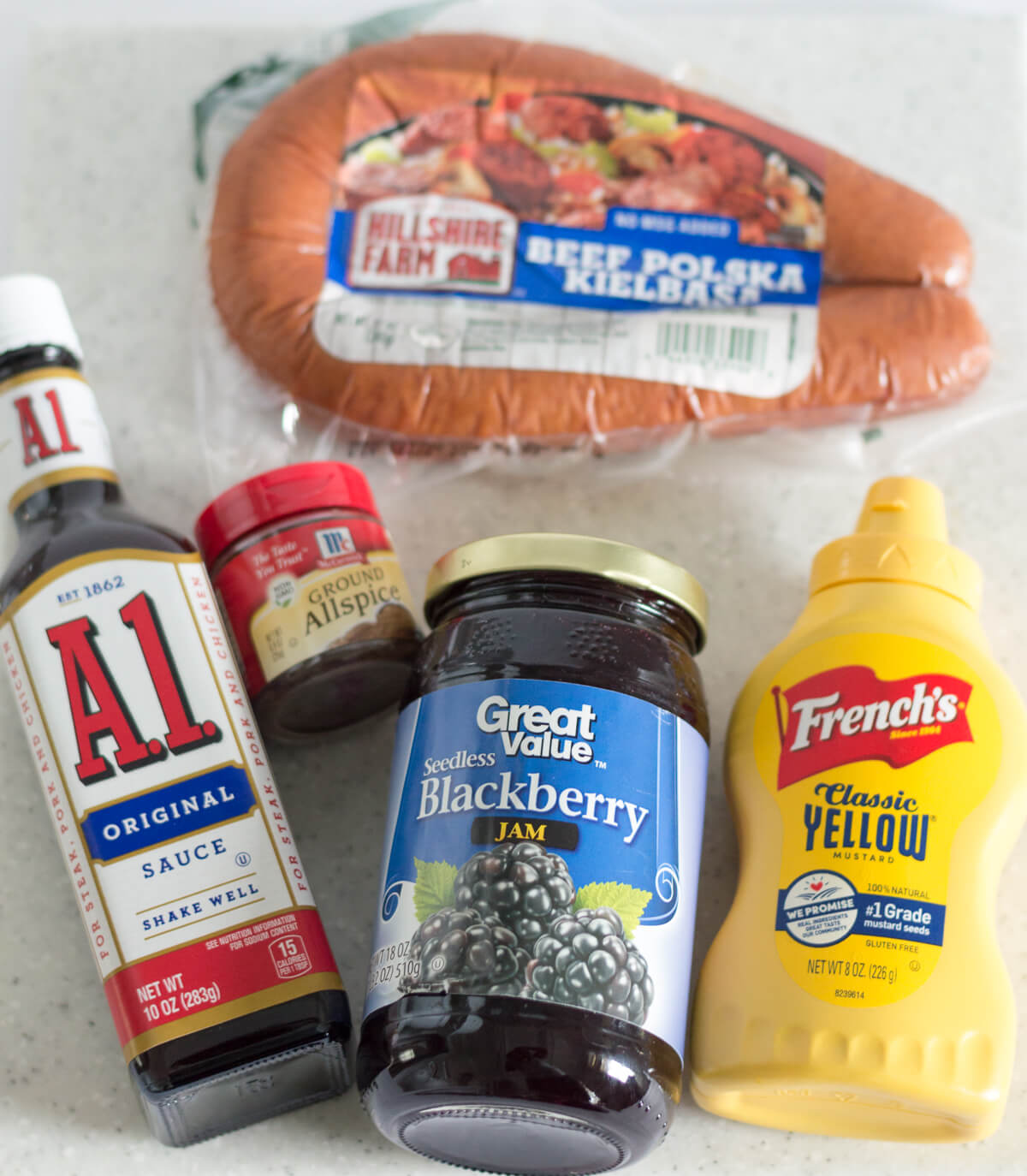 Slow cooker kielbasa bites ingredients   the home i create