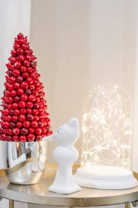 DIY Glowing Cloche Christmas decor