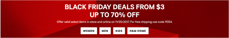 HM Black Friday Sale
