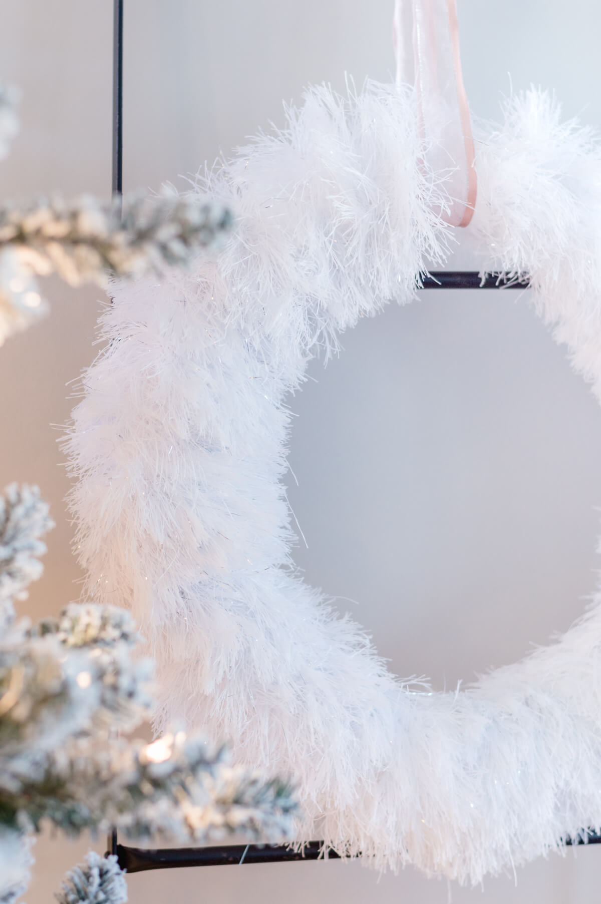 Inexpensive DIY Winter Wreath
