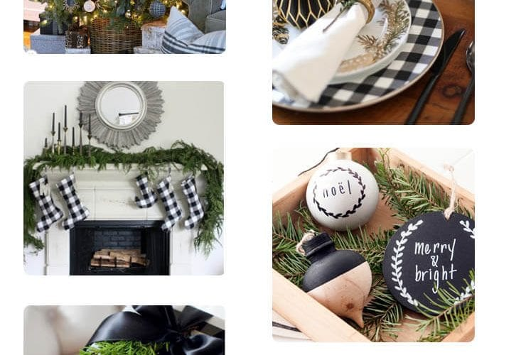 The Friday Five +1 30 - A round up of black and whIte Christmas decor