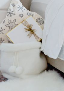 Cozy Christmas Bedroom Detail