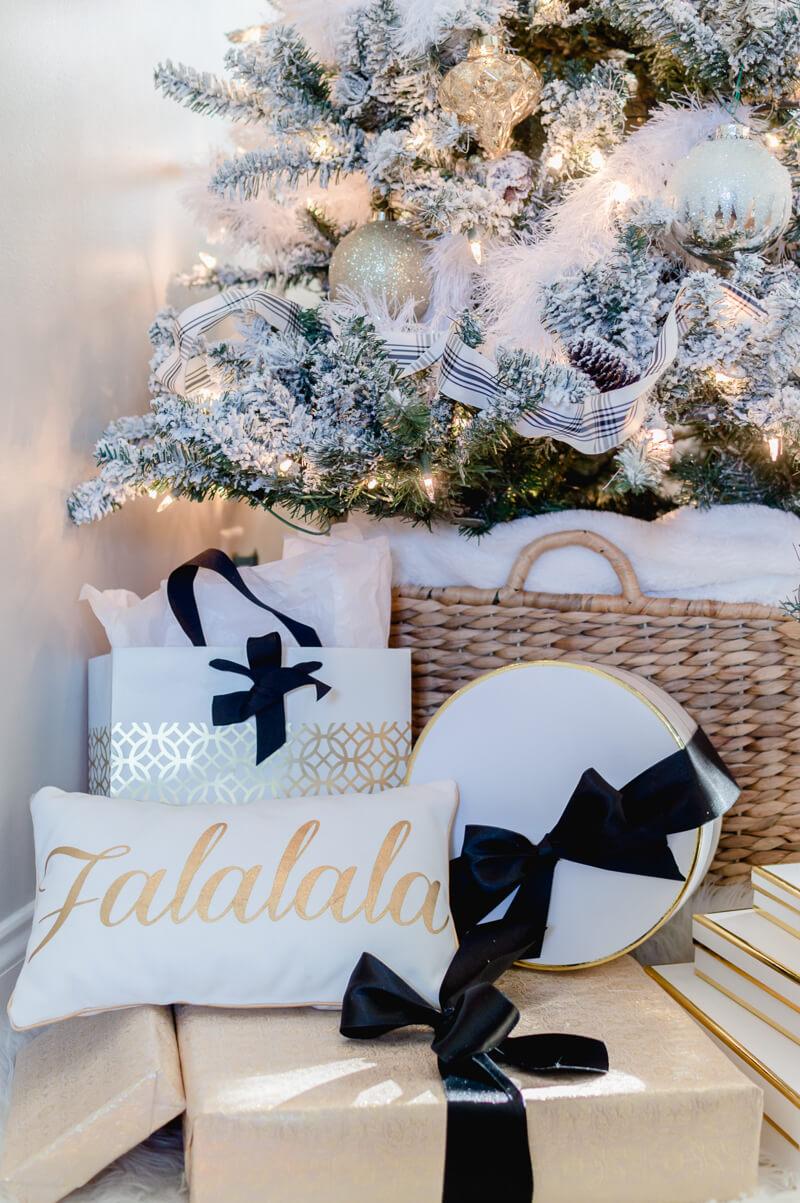 Falalala Christmas pillow