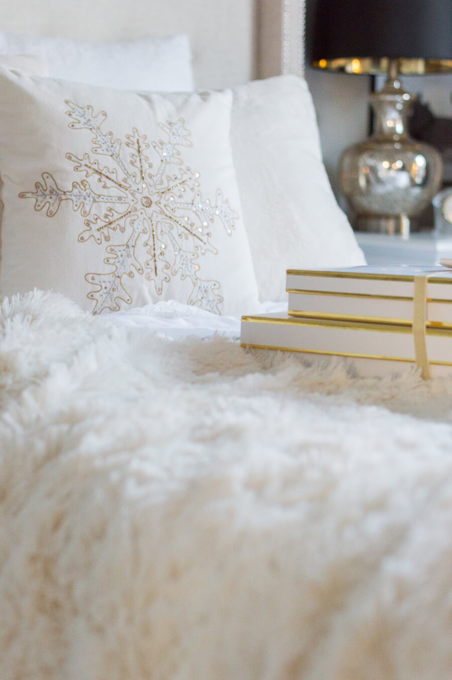 Faux fur Christmas pillow