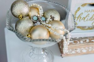 Gold and Glitter Christmas Ornaments