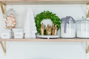 Open Shelf Styling For Christmas