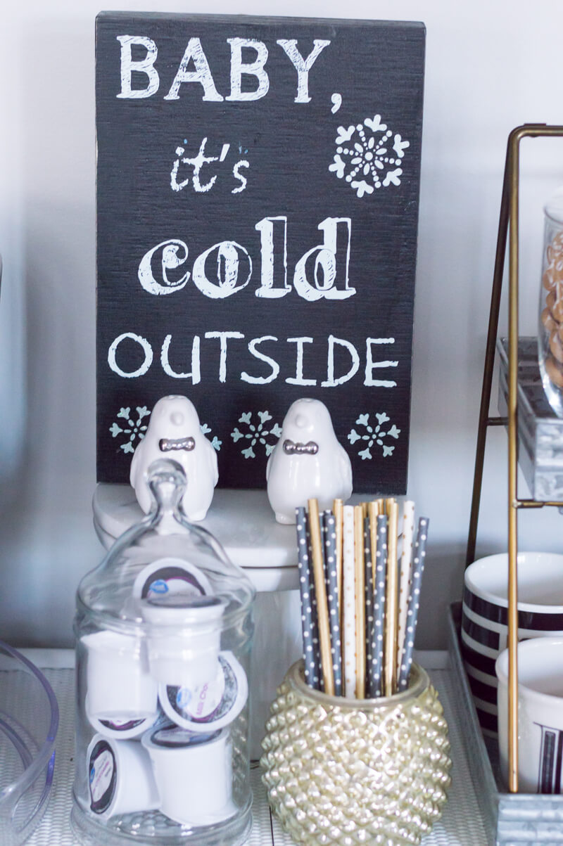 Chalkboard Baby It's Cold Outside Sign