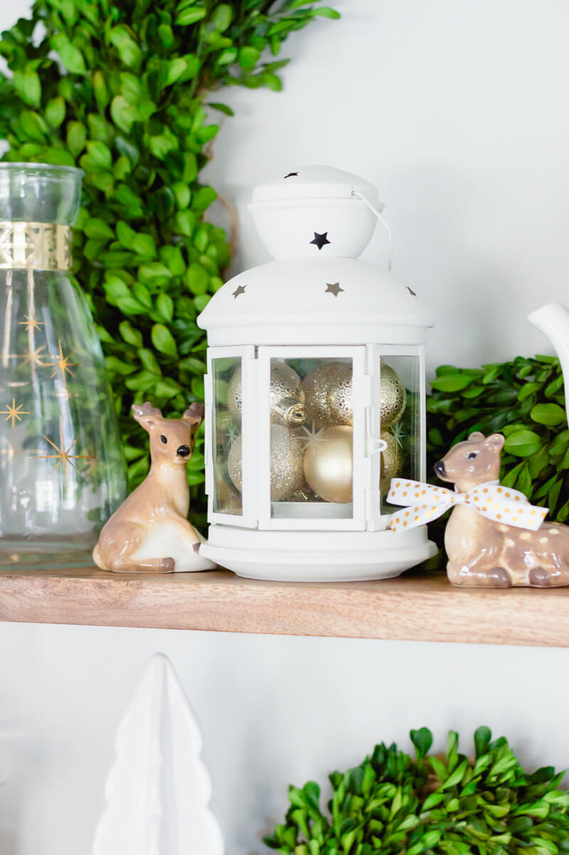 White Small Lantern with Gold Ornaments