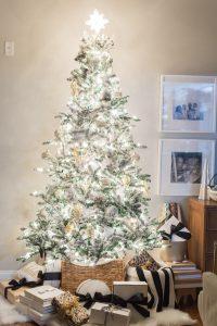 Mercury Glass Christmas Tree At Night