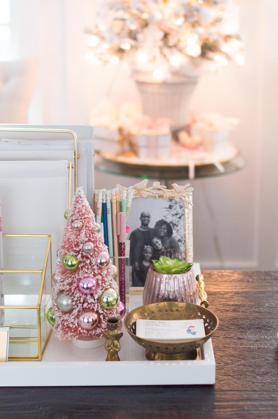Petite Pink Christmas Tree