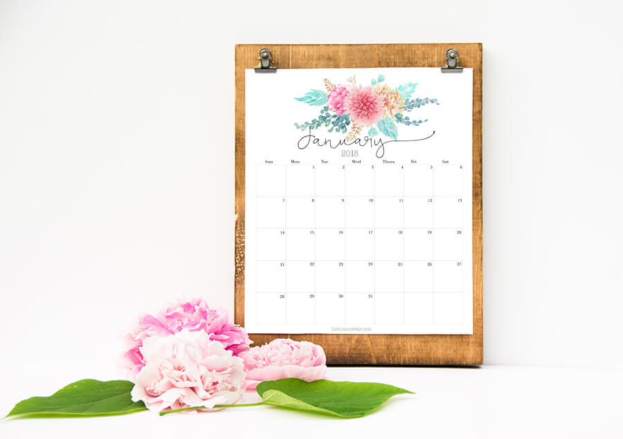 Free 2018 printable calendar the home i create for Create planner online