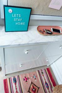 Ikea Shoe Cabinet In Mudroom