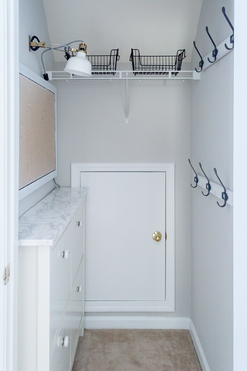 How To Turn A Small Closet Into A Mudroom.