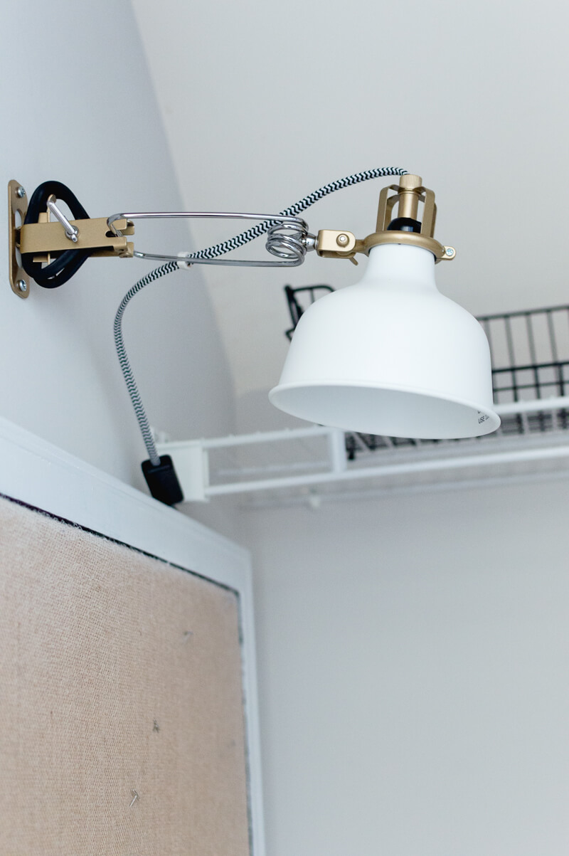 Mudroom Closet Ikea Wall Lamp