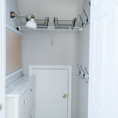 Mudroom In A Closet  – $100 Room Makeover Week 3
