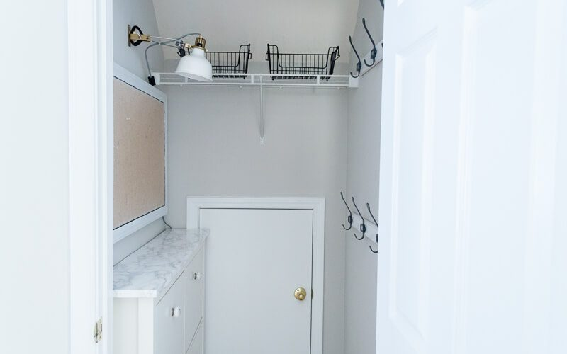 Mudroom Closet Set Up
