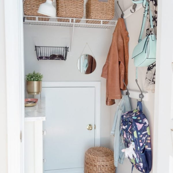 Small Mudroom Closet Makeover