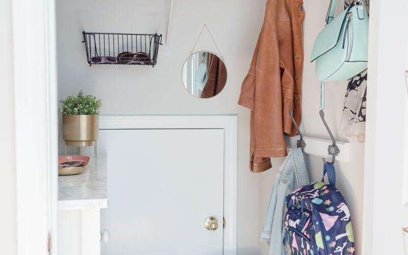 Small Mudroom Closet Makeover