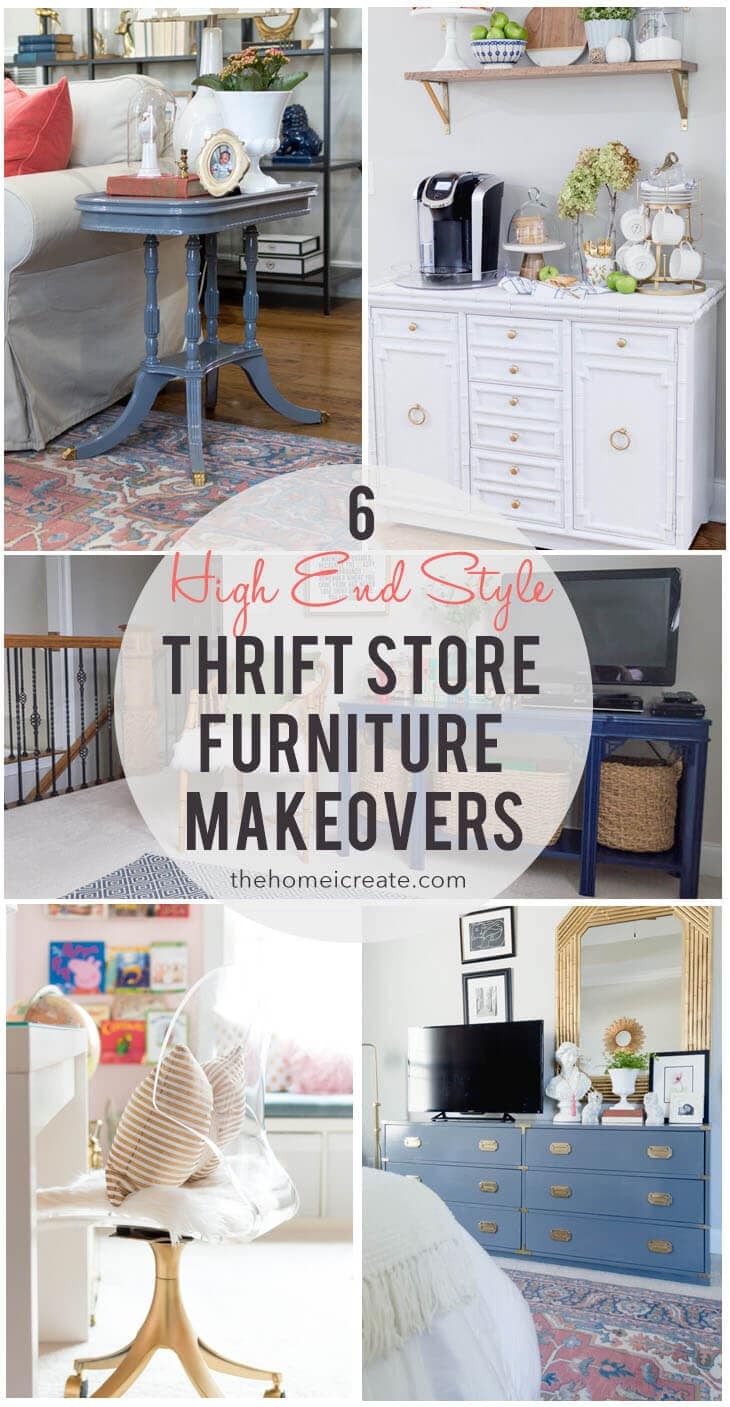 6 High End Style Thrift Store Furniture Makeovers The Home I Create