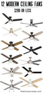 Affordable modern ceiling fans