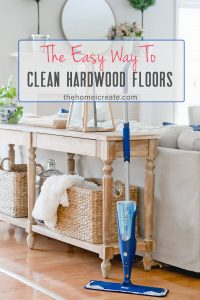 An easy way to clean hardwood floors