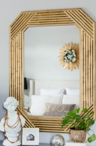 Faux Bamboo Mirror After