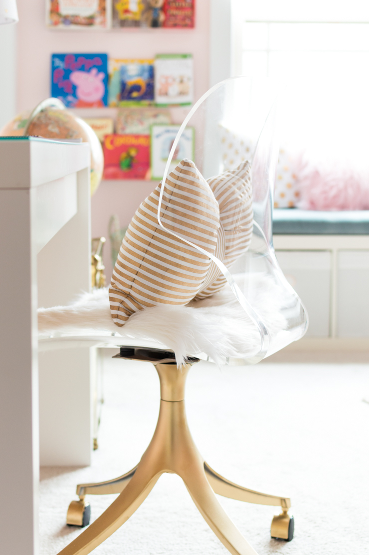 Lucite Desk Chair Makeover After