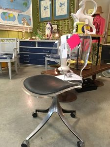 Lucite Desk Chair Makeover Before