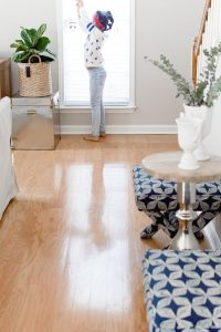 Shiny wood floors