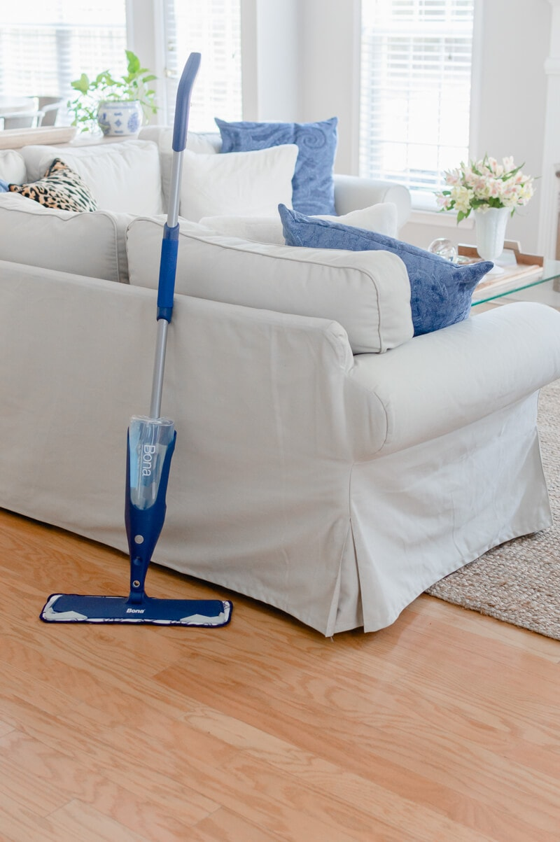 The easy way to clean hardwood