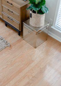 blond wood floor