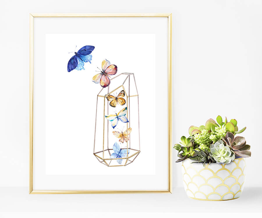 3 Free beautiful butterfly Printables. #printables #homedecorideas #freeprintables #springdecor #springprintables