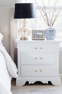 Master Bedroom update DIY White Nightstand