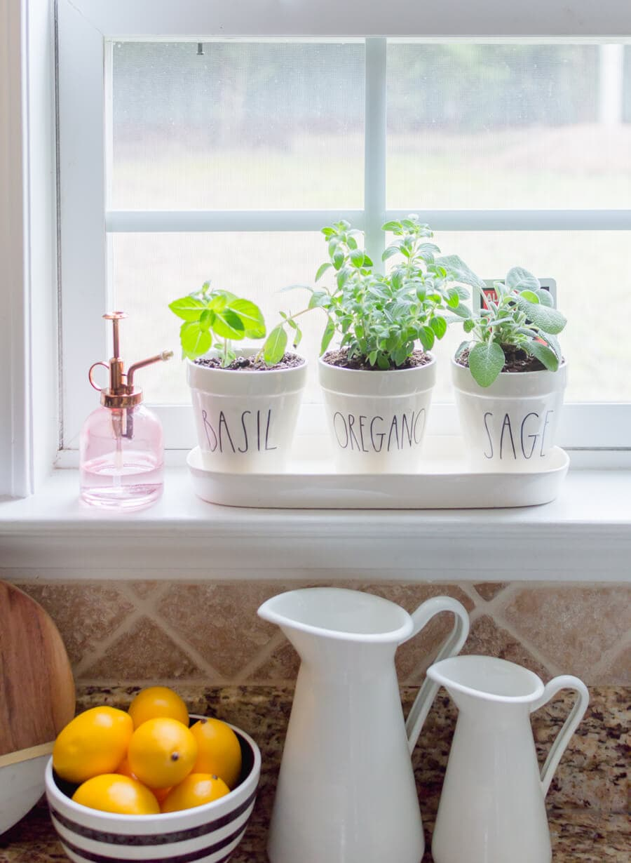 easy diy kitchen herb garden - the home i create