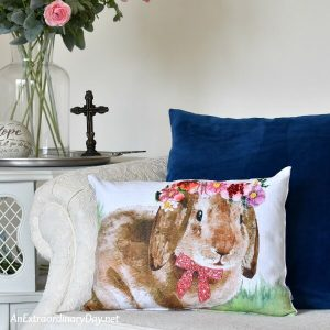 Cute-printed-bunny-a-DIY-project-from-a-table-runner-AnExtraordinaryDay.net_