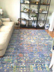 Modern blue rug