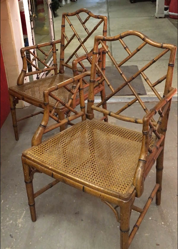vintage bamboo chairs