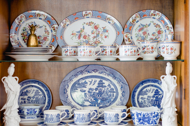 Blue and White Willow Dishes
