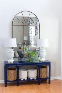 Entryway with Arched Mirror