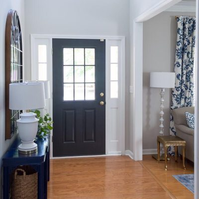 Front Door Painted Black – Sherwin Williams Iron Ore