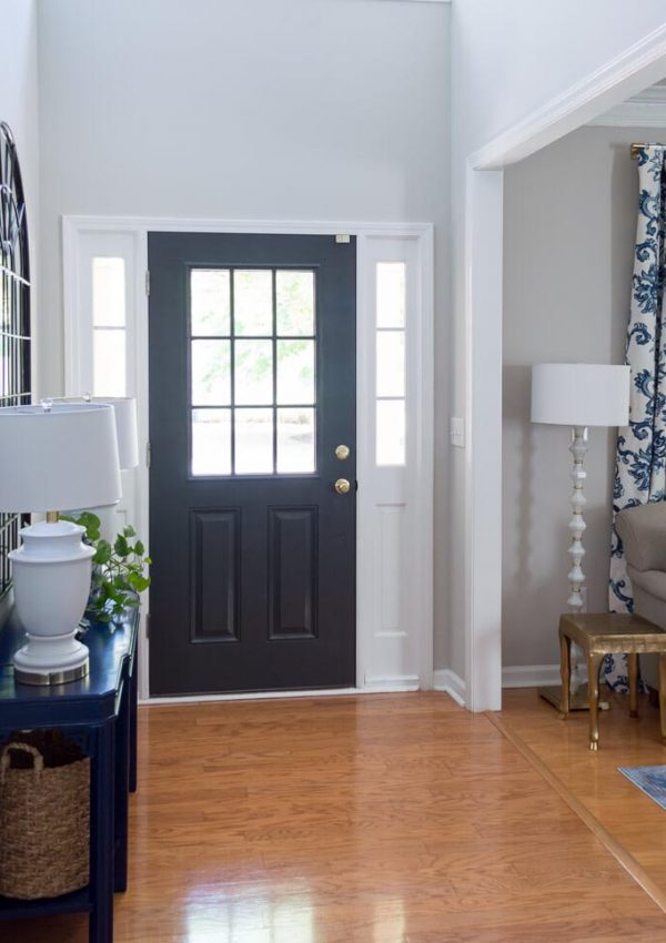 Front Door Painted Black – Sherwin Williams Iron Ore