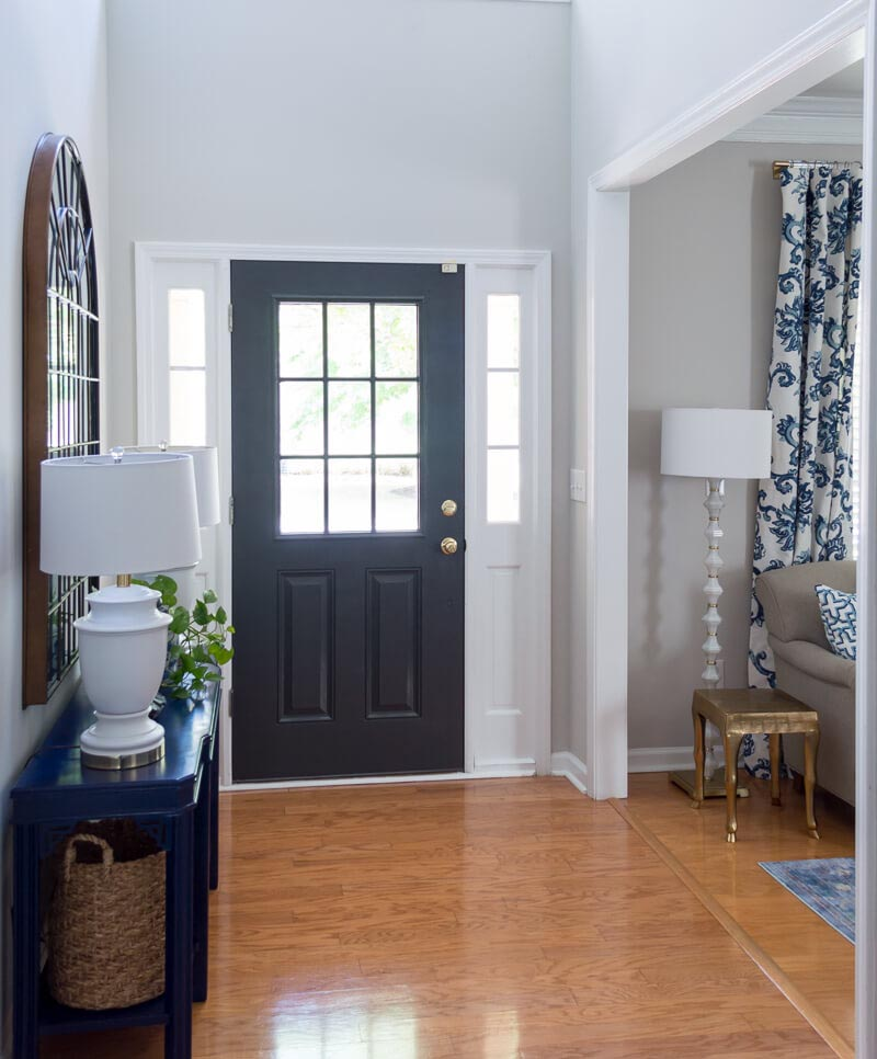 Front Door Painted Black Sherwin Williams Iron Ore The Home I Create